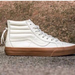 ee4cbf196d7de7 Vans Shoes - Vans SK8 Hi Reissue Zip Hiking White Gum